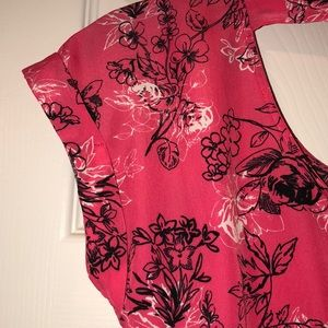 Candie's Dresses - Pink dress with black and white floral print